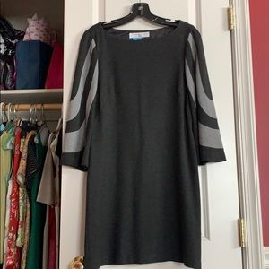 Trina Turk size 4 black dress with bell sleeves